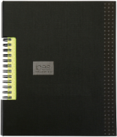Oxford® The Idea Collective® Double Wire Business Notebook - 80 Sheets - Black