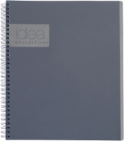 Oxford® The Idea Collective® Double Wire Professional Notebook - 80 Sheets - Gray