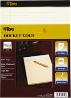 Tops Docket Gold Legal Ruled Writing Pad - 8.5 x 11.75 Inch - 70 Sheets - Ivory