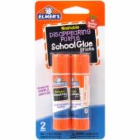 Elmers School Glue Disappearing Purple Glue Sticks - 2 Pack - 0.21 Ounce