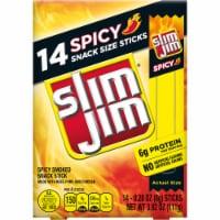 Slim Jim Spicy Snack-Sized Smoked Meat Sticks - 14 ct / 0.28 oz