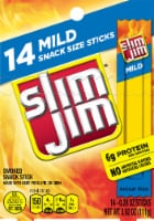 Slim Jim Mild Snack Sized Meat Sticks 14 Count