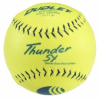 Dudley 1300291 Thunder Sy Classic with Slow Pitch Yellow Softball - 1
