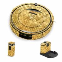 MightySkins IRRO690-Gold Tiles Skin for iRobot Roomba 690 Robot Vacuum, Gold Tiles - 1