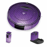 MightySkins IRRO690-Purple Diamond Plate Skin for iRobot Roomba 690 Robot Vacuum, Purple Diam - 1