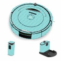 MightySkins IRRO690-Turquoise Chevron Skin for iRobot Roomba 690 Robot Vacuum, Turquoise Chev - 1