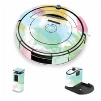 MightySkins IRRO690-Watercolor White Skin for iRobot Roomba 690 Robot Vacuum, Watercolor Whit - 1