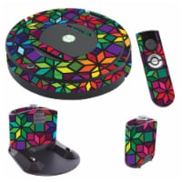MightySkins IRRO770-Stained Glass Window Skin for iRobot Roomba 770 Robot Vacuum, Stained Gla - 1