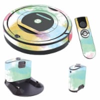 MightySkins IRRO770-Watercolor White Skin for iRobot Roomba 770 Robot Vacuum, Watercolor Whit - 1