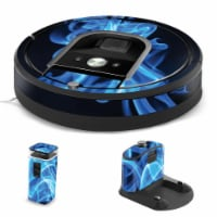 MightySkins IRRO960-Blue Flames Skin for iRobot Roomba 960 Robot Vacuum, Blue Flames - 1