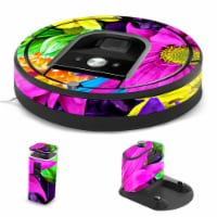 MightySkins IRRO960-Colorful Flowers Skin for iRobot Roomba 960 Robot Vacuum, Colorful Flower - 1
