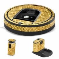 MightySkins IRRO960-Gold Tiles Skin for iRobot Roomba 960 Robot Vacuum, Gold Tiles - 1