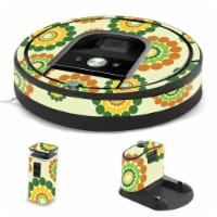 MightySkins IRRO960-Hippie Flowers Skin for iRobot Roomba 960 Robot Vacuum, Hippie Flowers - 1