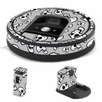 MightySkins IRRO960-Laughing Skulls Skin for iRobot Roomba 960 Robot Vacuum, Laughing Skulls - 1