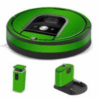MightySkins IRRO960-Lime Carbon Fiber Skin for iRobot Roomba 960 Robot Vacuum, Lime Carbon Fi - 1