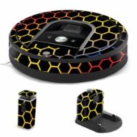 MightySkins IRRO960-Primary Honeycomb Skin for iRobot Roomba 960 Robot Vacuum, Primary Honeyc - 1