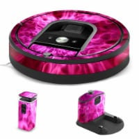 MightySkins IRRO960-Red Mystic Flames Skin for iRobot Roomba 960 Robot Vacuum, Red Mystic Fla - 1