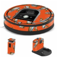 MightySkins IRRO960-Trout Collage Skin for iRobot Roomba 960 Robot Vacuum, Trout Collage - 1