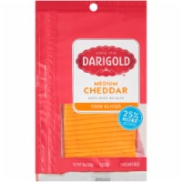 Darigold Natural Medium Yellow Cheddar Cheese Slices