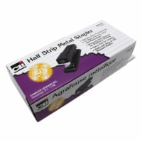 Half Strip Metal Stapler, Non-Skid Base, Black - 1