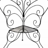 CobraCo BFPLNTST Decorative Butterfly Plant Stand
