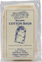 Flower Valley  Reusable Cotton Bags - 3 Bags