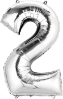 Anagram Number 2 Silver Balloon