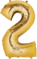 Anagram Number 2 Gold Balloon