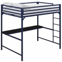 DHP Mabel Full Metal Loft Bed with Desk in Blue - 1