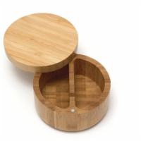 Lipper International Inc. Divided Wooden Bamboo Storage Spice Box w/Swivel Cover - 1 Unit