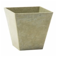 Novelty Artstone 10 x 9.81 in. Mint Resin & Stone Powder Ella Flower Pot