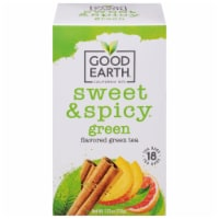 Good Earth Sweet & Spicy Green Tea Bags 18 Count