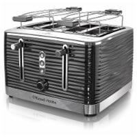 Russell Hobbs TR9450BR Retro Style 4 Slice Toaster - Black - 1