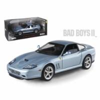 Ferrari 575M Maranello Blue From Movie \Bad Boys 2\ Elite Edition 1/18 Diecast Model Car - 1