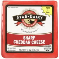 Weyauwega Star Dairy Sharp Cheddar Cheese - 12 oz