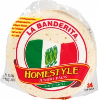 La Banderita Homestyle Soft Taco Tortillas Jumbo Pack 24 Count