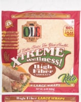 Ole Xtreme Wellness High Fiber Large Wraps 6 Count