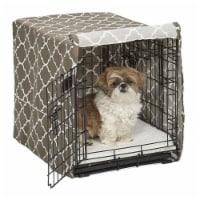 Midwest Metal Products 249517 24 in. BRN Pets Dog Crate Cover