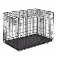 MidWest Homes For Pets iCrate Medium Large Dog Bed Kennel Kit with Cover, Black - 1 Piece