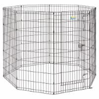 Midwest 277366 48 in. Contour Exercise Pet with Door, Black