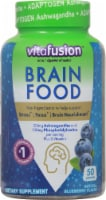 Vitafusion Natural Blueberry Flavor Brain Food Adult Gummy Vitamins - 50 ct