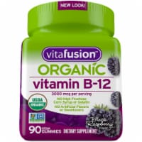 Vitafusion Organic Black Raspberry Flavor Vitamin B-12 Gummies 3000mcg