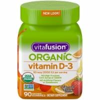 vitafuison Organic Citrus & Berry Flavors Vitamin D3 Gummies 50mcg