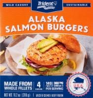 Trident Seafoods Alaskan Salmon Burgers 4 Count