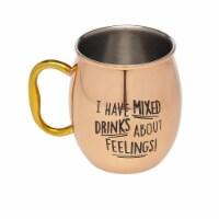 Godinger 19445 Mixed Drinks Feel Moscow Mule Mug, Copper - 1