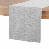 Martha Stewart Honeycomb Table Runner - Gray - 14 x 72 in