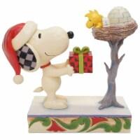Enesco Jim Shore Peanuts Snoopy & Woodstock Snowy Gift Figurine - 1 Unit