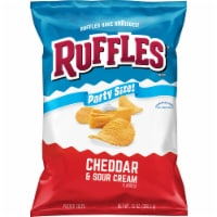 Ruffles Potato Chips Cheddar & Sour Cream Flavor Snacks 13 oz Party Size Bag