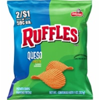 Ruffles® Queso Cheese Flavored Potato Chips - 1 oz
