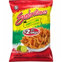 Sabritones Chile & Lime Flavored Wheat Snacks Puffs
